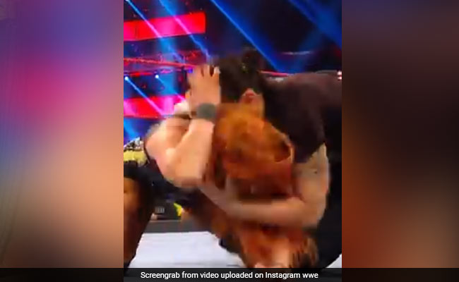 Shayna Baszler Bitten On The Neck Of Becky Lynch WWE Video Goes Viral